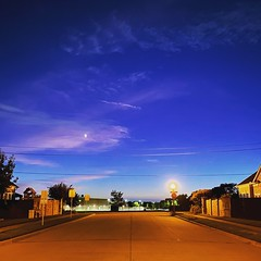 Ye shaam mastani! A beautiful evening! #evening #road #sky #shotoniphone #bluesky #blue