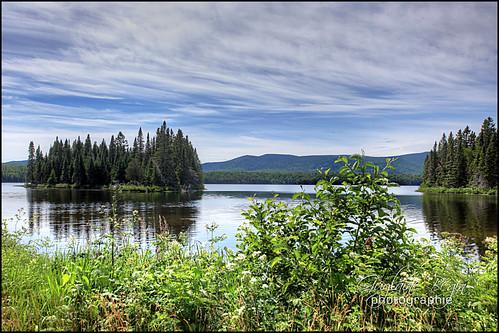 Le Lac Bathurst et son île