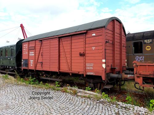 DE-98693 Ilmenau  Bahnhof Rennsteigbahn Güterwagen Oppeln 1558 Ghs im Juli 2020