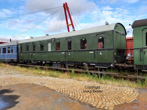 DE-98693 Ilmenau  Bahnhof Rennsteigbahn DB Museum Abteilwagen 81 753 Berlin  im Juli 2020