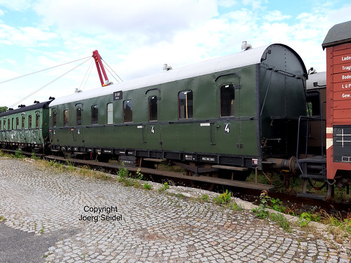 DE-98693 Ilmenau  Bahnhof Rennsteigbahn DB Museum Abteilwagen 81 681 Berlin  im Juli 2020