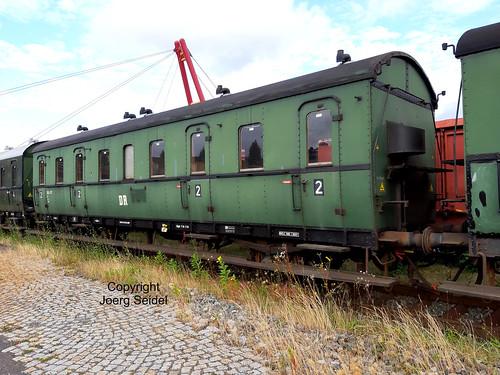 DE-98693 Ilmenau  Bahnhof Rennsteigbahn DB Museum Abteilwagen 541-317 im Juli 2020