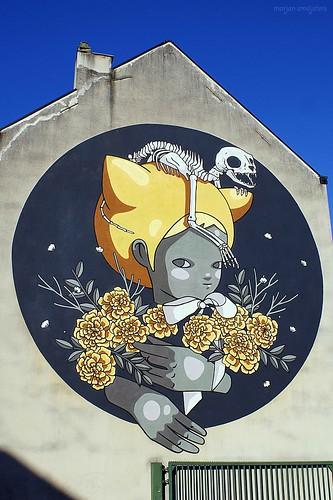 "Street Art Ghent, Belgium (Itzel Najera Luna or ""News"")"