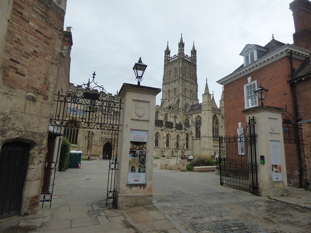 Photo:Gloucester Cathedral - gates from College Street By ell brown
