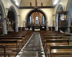 Liessies  Intérieur de  église de Sainte Hiltrude(Nord - france)  (3)