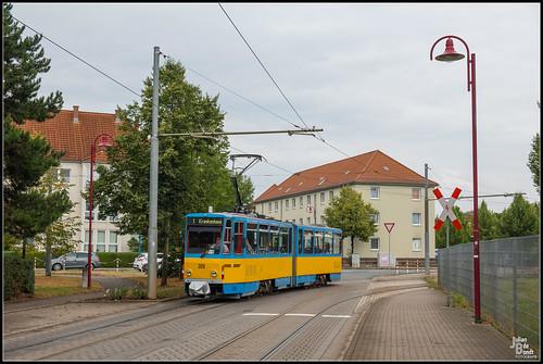 14-08-20 TWSB Tatra KT4DC 309, Gotha - Karl-Liebknecht-Strasse