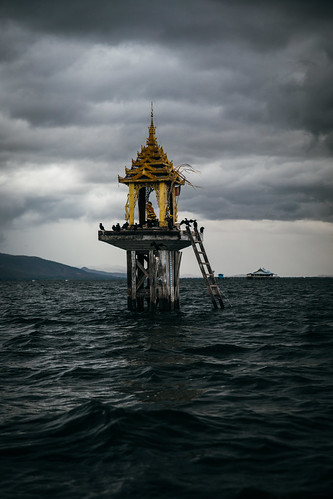 Little shrine in the middle of Inle Lake