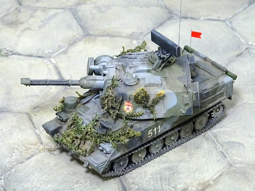 "1:72 ""Object 511"" a.k.a. ""ZSU-37-6 / Лена"" prototype, USSR Army, during state acceptance trials; Donguzskiy weapon test range, Orenburg Oblast, summer 1979 (What if/kit-bashing)"