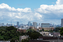 Summer clouds over Tokyo (Skytree and Tokyo Tower)