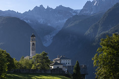 First Sun Rays over Soglio