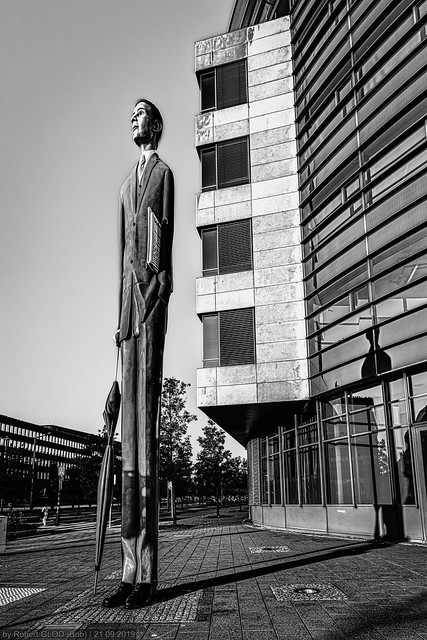 Photo:Kirchberg - DEKA Bank Luxembourg + Lange Bänker by Marianne Brausch By Robert GLOD (Bob)
