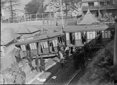 Tram crash, Mcmahons point, Sydney, 1934