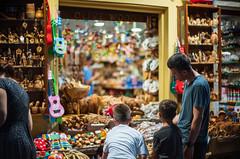 Family Shopping in Corfu