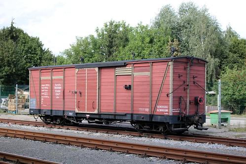 Traditionsbahn Radebeul: Gedeckter Güterwagen GGw 97-12-48 in Radeburg