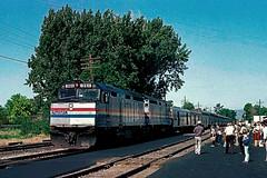First eastbound Amtrak California Zephyr on the Rio Grande