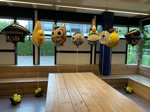 Cloudbuster Folieballonnen Geslaagd Diplomering Penta College Scale Molenwatering Spijkenisse