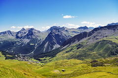 The mountains around Arosa