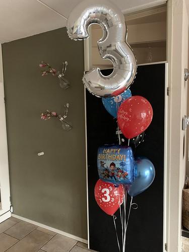 Ballonboeket Verjaardag 3 Jaar