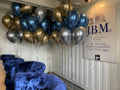 Heliumballonnen Chrome Ross Lovell aan de Maas Ridderkerk