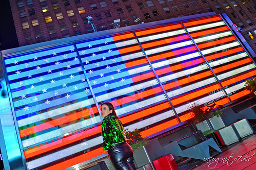 Me & The American Flag at US Armed Forces Times Square Midtown Manhattan New York City NY P00644 DSC_2025
