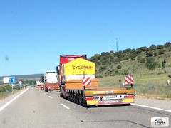 Cyganex Mercedes Actros MP4 3353 Gigaspace Low Bed Special Transport - Spain