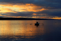 Lone rower