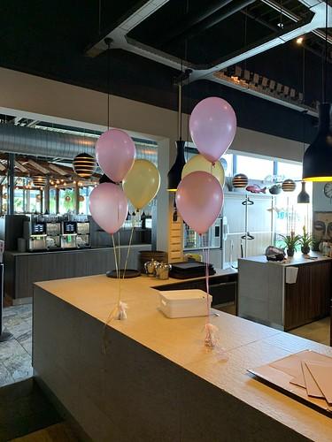 Tafeldecoratie 3ballonnen Watertuin Spijkenisse
