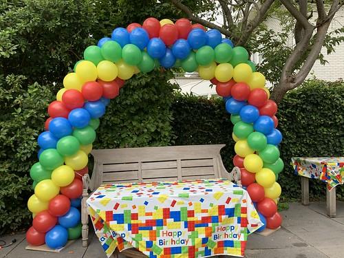 Ballonboog 6m LEGO kleuren