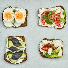 Four healthy snacks ready to eating