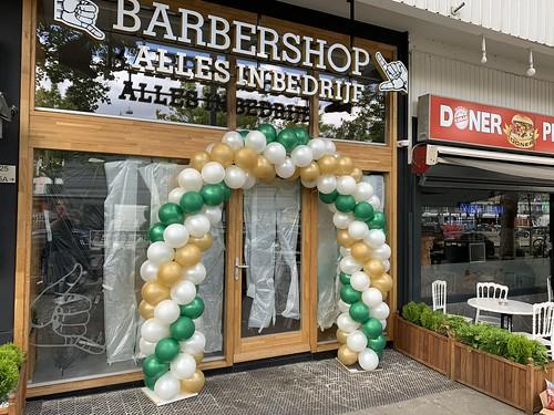 Ballonboog 6m Opening Barbershop Alles in Bedrijf Amsterdam