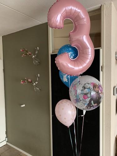 Ballonboeket Verjaardag 3 Jaar Frozen
