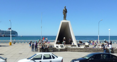 Monument to Welsh Settlers, Waterfront in Puerto Madryn, Argentina