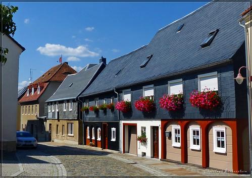 Neusalza-Spremberg - Umgebindehäuser in der Rosenstraße