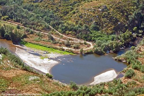 Rio Mondego visto do Miradouro da Penha - Póvoa de São Cosme - Portugal 🇵🇹
