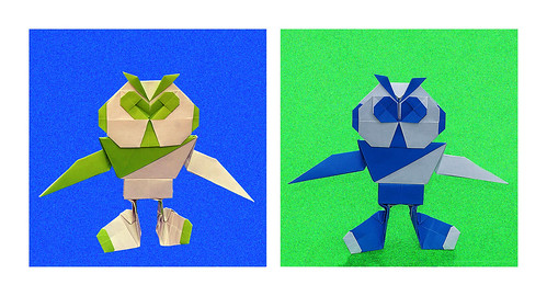 Origami Modular Robots with Eyebrows (Hojyo Takashi)