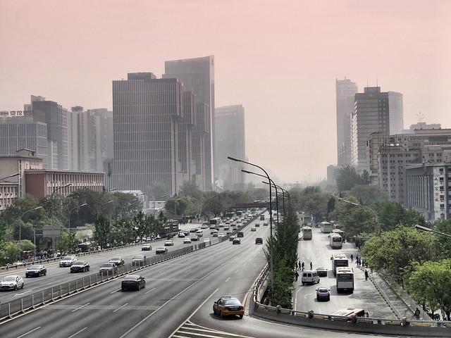Chine - Pékin à l'aube et dans la circulation (11)