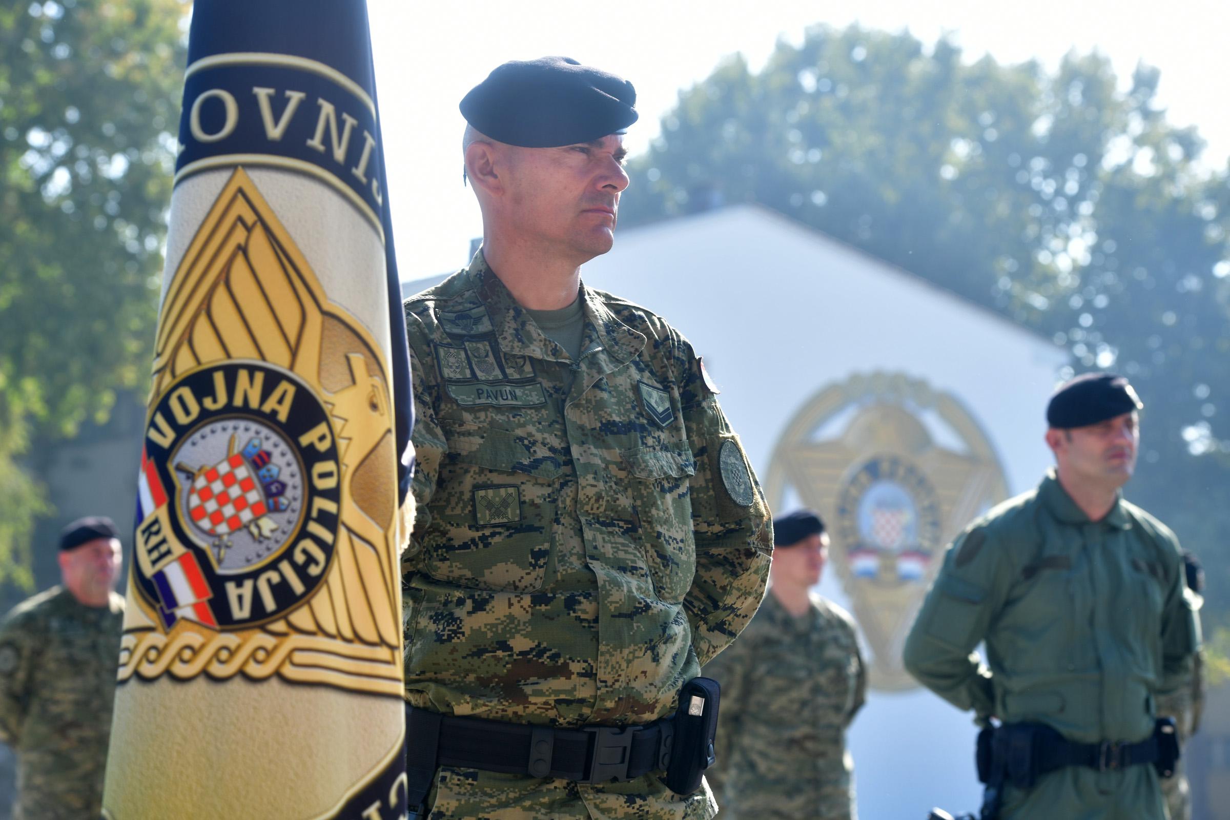 Primopredaja dužnosti zapovjednika Pukovnije vojne policije