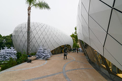 Temporary pavilions at Monte-Carlo Gardens