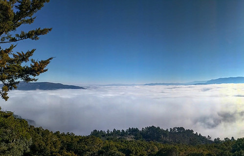 douro valley in cloud cover from galafura