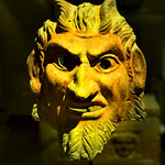 Roman Satyr Mask Beirut by Dave Minty