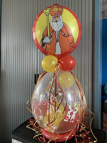 Kadoballon Sinterklaas met Ballon bovenop