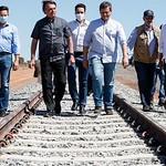 Visita às obras da Ferrovia de Integração Oeste-Leste, em Barreiras, com o Ministro da Infraestrutura, Tarcísio Gomes de Freitas, e a comitiva do Presidente Jair Bolsonaro - Setembro/2020