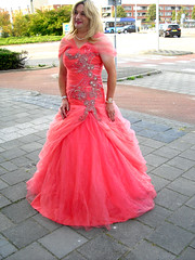 apricot ballgown