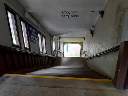 DE-98559 Oberhof Ehemaliger  Bahnhof im Juli 2020