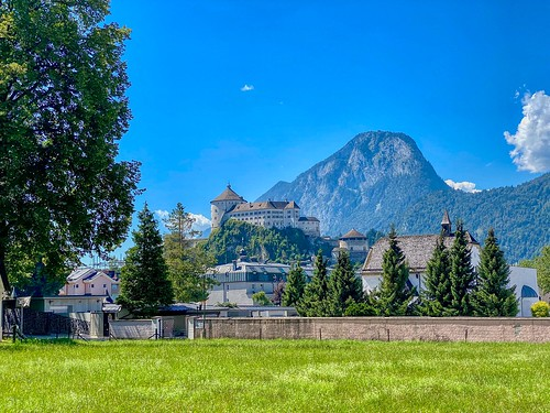Kufstein with Fortress and Pendling mountain in Tyrol, Austria