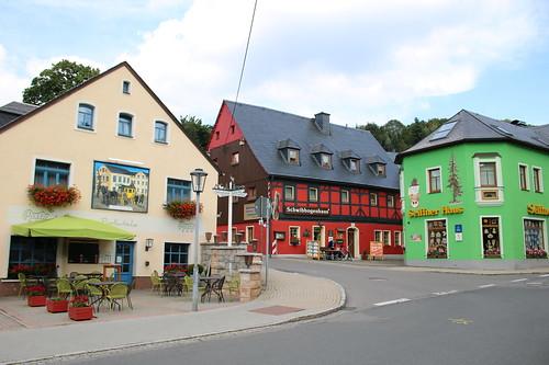 Kurort Seiffen: Erbgericht, Schwibbogenhaus und Seiffner Haus