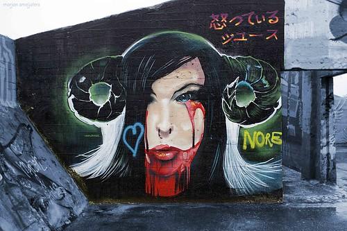 """Hairstyle"", Street Art Ghent, Belgium"