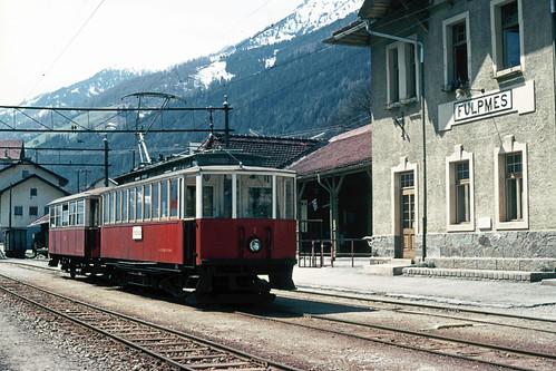 Stubaitalbahn Nr. 3 in Fulpmes (A), 1975.