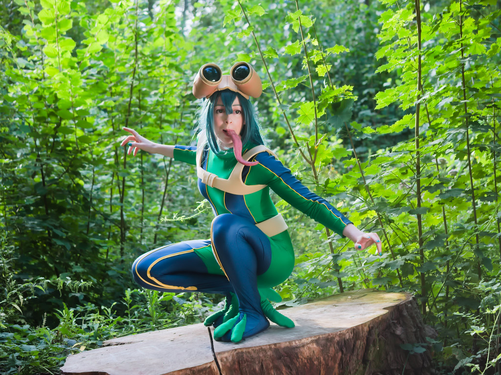 related image - pp/retouches/Shooting Tsuyu Asui - My Hero Academia - Enaelle - Parc du Heron - Lille -2020-08-02- P2211937