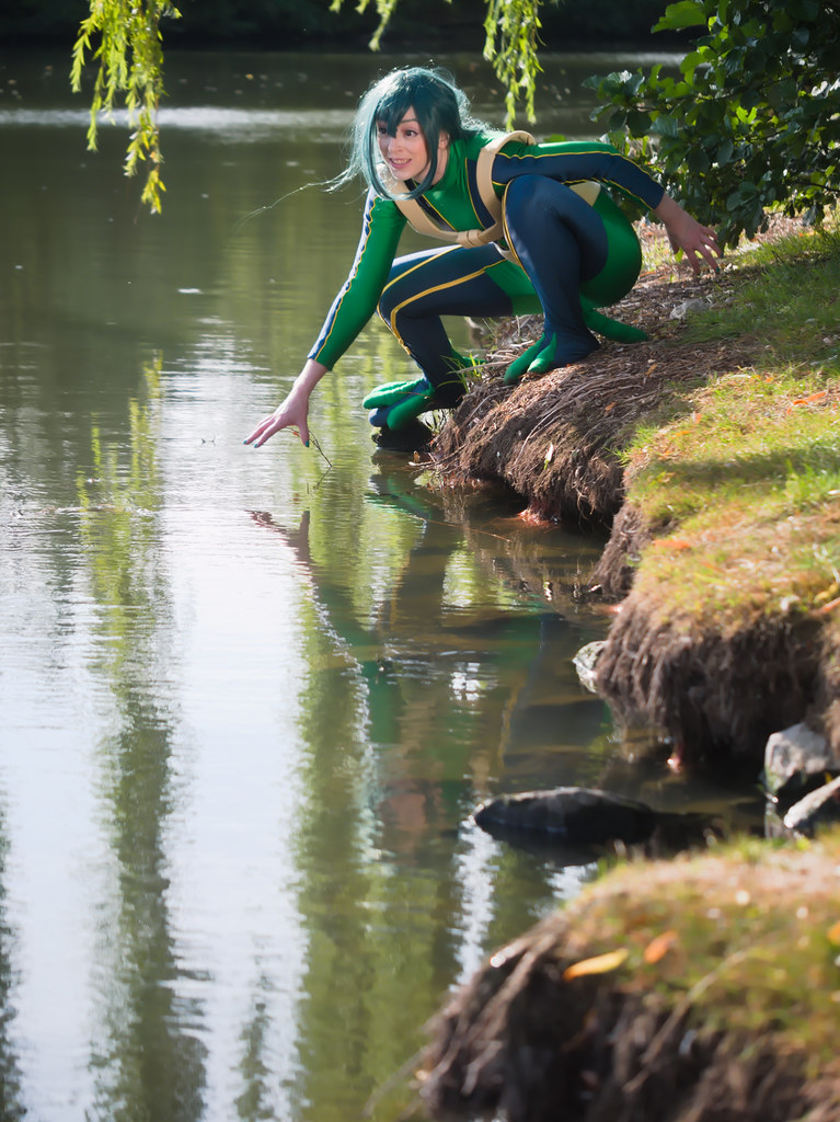 related image - pp/retouches/Shooting Tsuyu Asui - My Hero Academia - Enaelle - Parc Du Heron - Lille -2020-08-02- P2222105